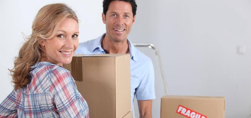 Use cardboard boxes when moving