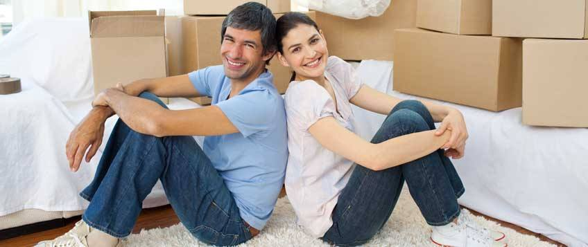 Couple ready for moving home