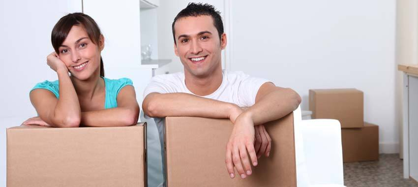 Couple ready for moving